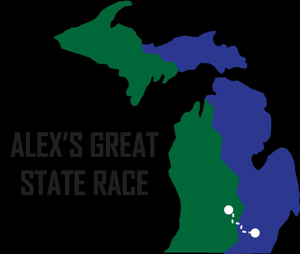 Alex's Great State Race logo.