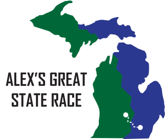 Alex's Great State Race logo.