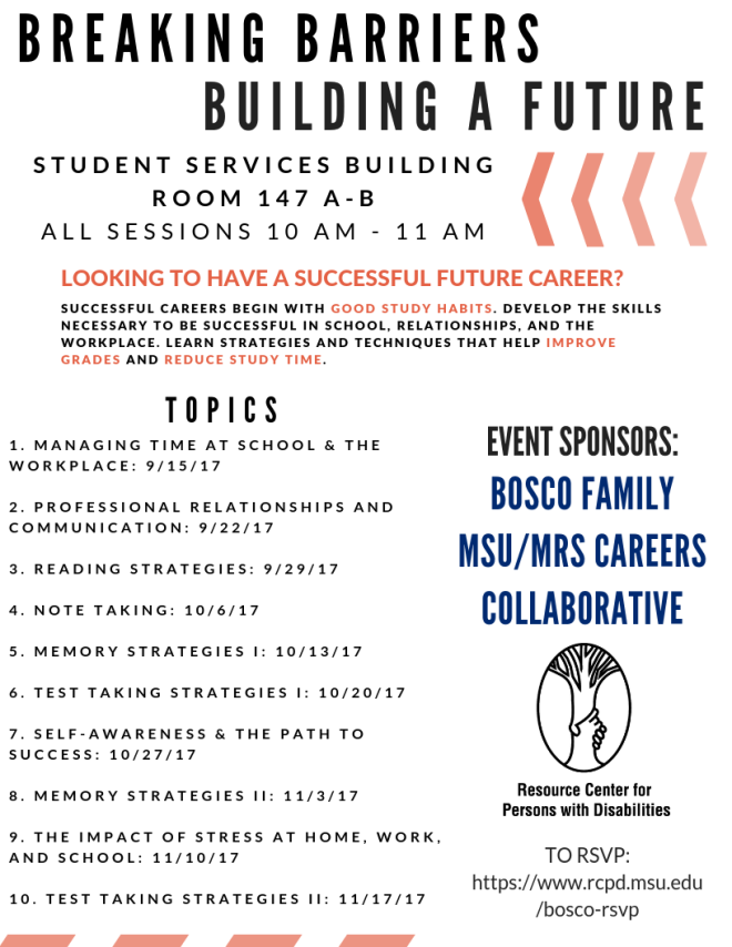 A flyer for a career-building event hosted by the RCPD.