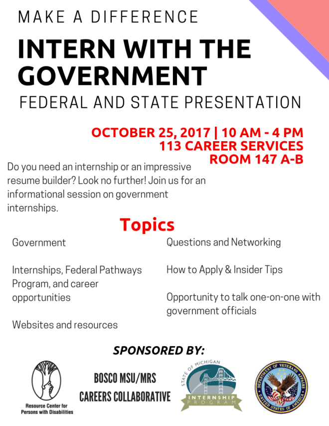 A flyer for a career-based event hosted by the RCPD.