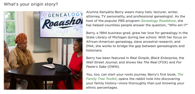 "Screenshot of ""What's your origin story?"" from the @MSU Newsletter, December 2018. Written by Allison Bertram."